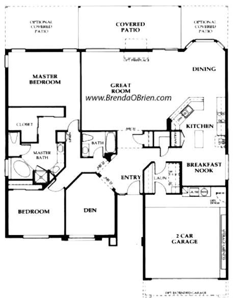 saddlebrooke floor plan sedona model large