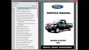 Ford Ranger Electric  Ev    Repair Manual