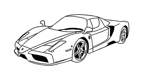 ferrari drawing how to draw a ferrari enzo car youtube