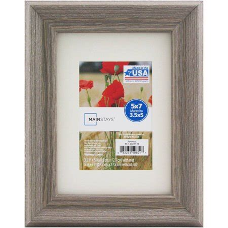 5x7 matted frame mainstays 5x7 matted to 3 5x5 graywash picture frame