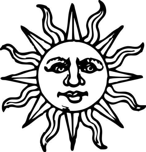sun planet coloring pages - Clip Art Library