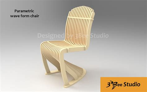 Parametric Wave Chair Plan Vector File For Cnc