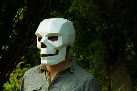 geometric paper mask