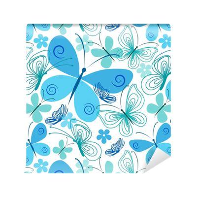 foto de Papel de Parede Borboleta azul e turquesa • Pixers