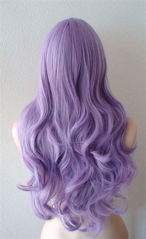 pastel colored wigs lavender wig pastel light purple curly volume by