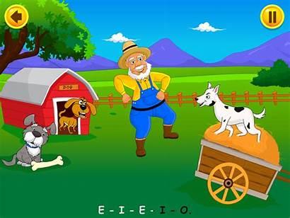 Clipart Nursery Farmer Macdonald Rhymes Kidloland Grass