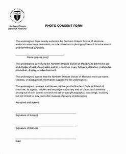 photography permission form template - basic consent forms