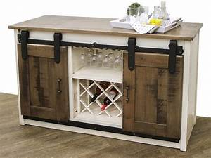 barn door wine server dutch craft furniture With barn door server