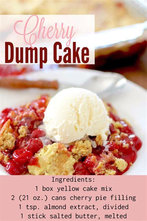easy cherry dump cake recipe desserts creative ideas