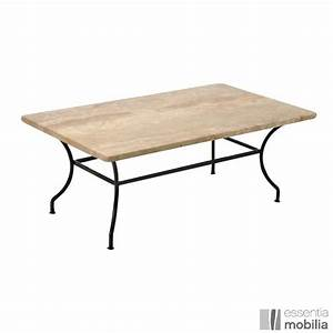 table basse fer forge avec plateau marbre ou granit With table salon fer forge