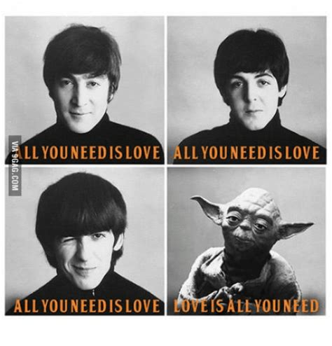 Beatles Yoda Meme - image gallery love yoda