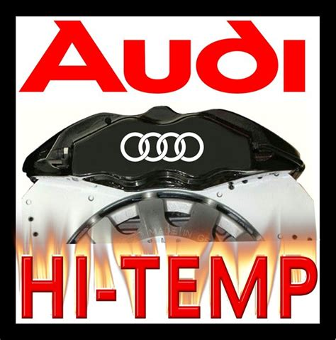 audi brake caliper decals stickers graphics set