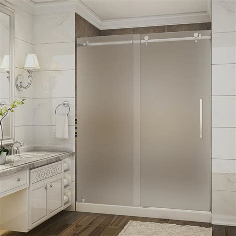 frosted shower doors aston moselle 60 in x 32 in x 77 5 in completely