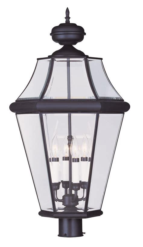 livex lighting 2368 07 georgetown outdoor post mount fixture