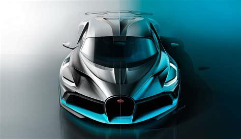 The interior features a mixture of black and blue alcantara and leather. Bugatti Divo : pour les blasés de la Chiron ! - Photo #35 - L'argus