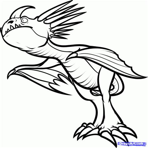 Storm Fly Dragon Colouring Pages