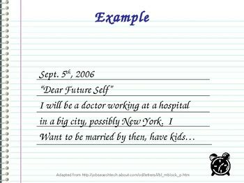 letter to future self template letter to my future self by mdenglishteacher teachers pay teachers