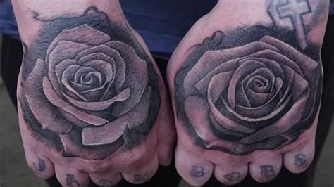 Roses Tattoo On Hands By Tek  Tattoo Timelapse Youtube