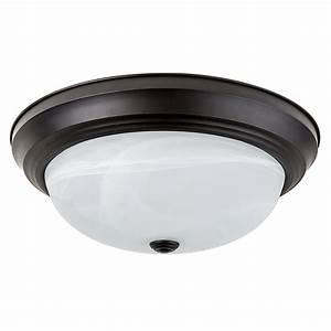 Quot flush mount led ceiling light w oil rubbed bronze