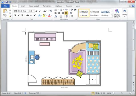 kids room plan templates  word