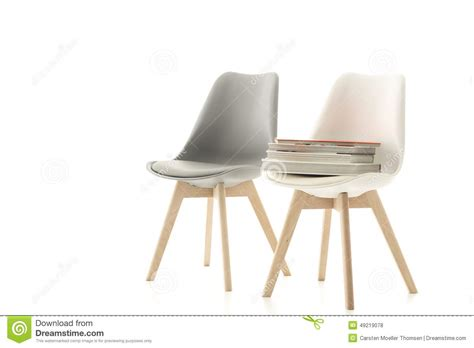 a matching grey and white modern chair stock photo image