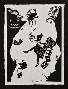 ALICE IN WONDERLAND Papercut - Down the Rabbit Hole - Hand ...