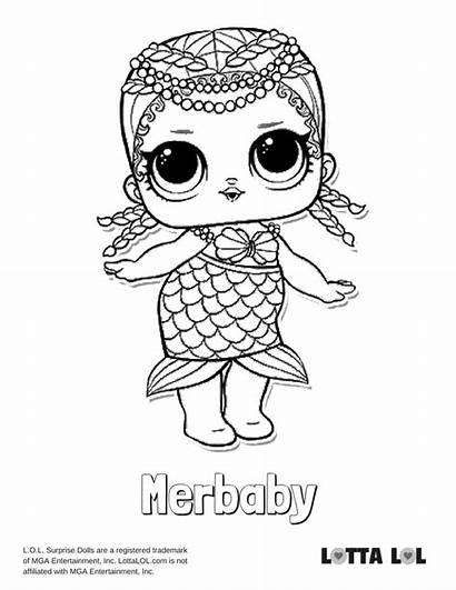 Lol Coloring Merbaby Pages Dolls Surprise Doll