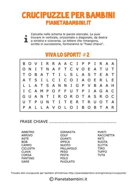 trova parole con lettere italiano 4 crucipuzzle per bambini da stare in pdf negrita