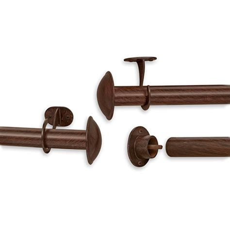 nemesis indoor outdoor curtain rod set 52 100in boscov s