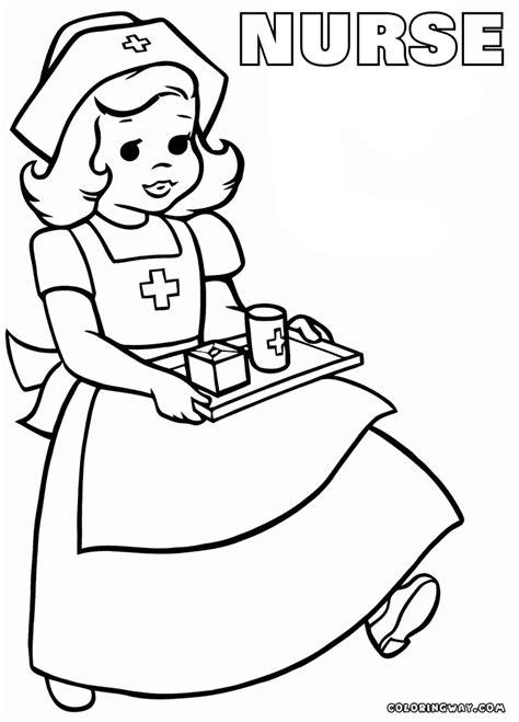 nurse coloring pages coloring pages    print