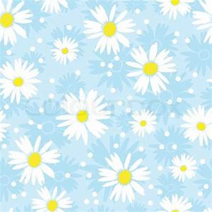 Seamless cute camomile background Vector illustration