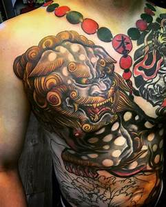 61+ Best Foo Dog Tattoos Design And Ideas