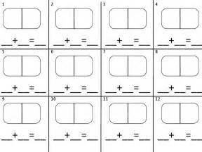 domino addition recording sheet math add sub