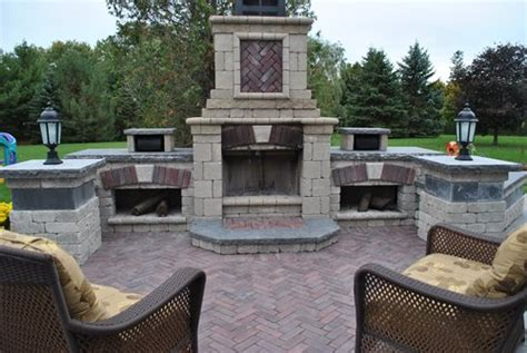 unilock fireplace kits price outdoor fireplace kits landscaping network