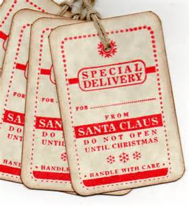 vintage christmas gift tags special delivery from by luvs2create2