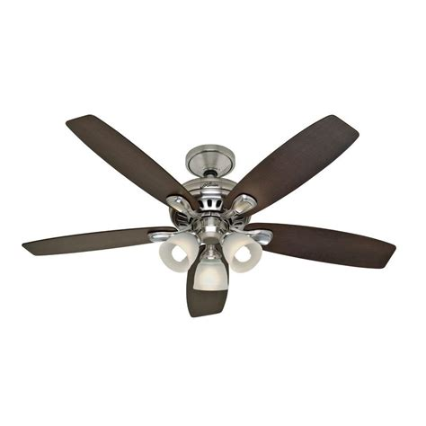 hunter highbury ceiling fan hunter highbury 52 in brushed nickel ceiling fan shop