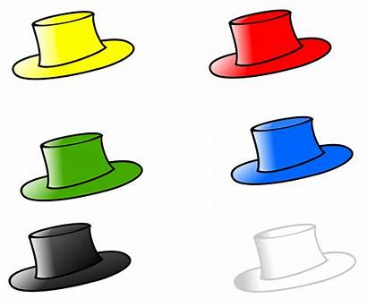 Objects Six Clipart Number Object Hats Transparent