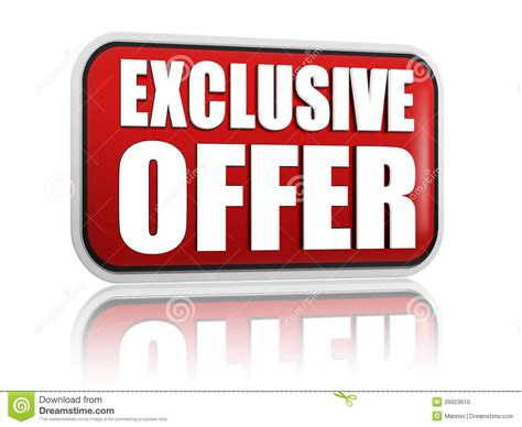 Exclusive Offer Red Banner Stock Photo  Image 29923610