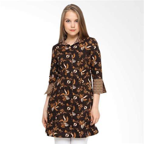 30 model tunik batik elegan modern kerja kombinasi