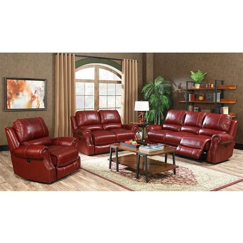 Rustic Sectional Sofa by Cambridge Rustic 3 Wine Sofa Loveseat And Recliner