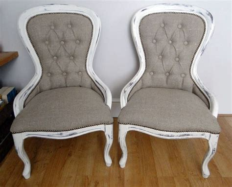 Diy Reupholstered Chairs, Distressed White Chalk Paint