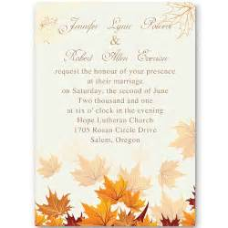 cheap personalized party favors fall leaves wedding invitations ewi248 as low as 0 94