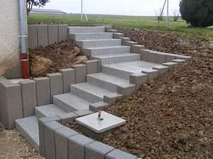 Hauteur Marche Escalier Extérieur : escalier agencement pierres ~ Farleysfitness.com Idées de Décoration
