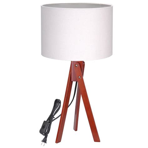 bedroom light stand modern tripod table desk floor lamp wood wooden stand home 10527 | 11dsl001 tri01 nut 02