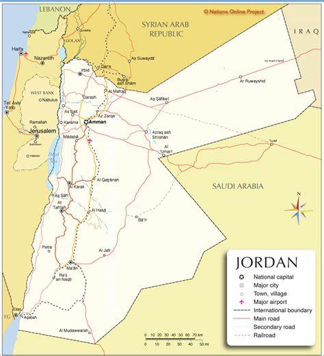 political map  jordan nations  project