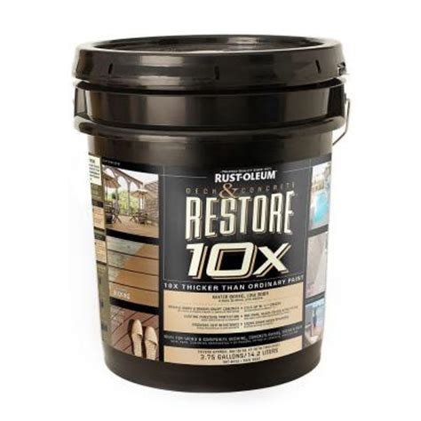 rust oleum restore  gal tint base deck  concrete