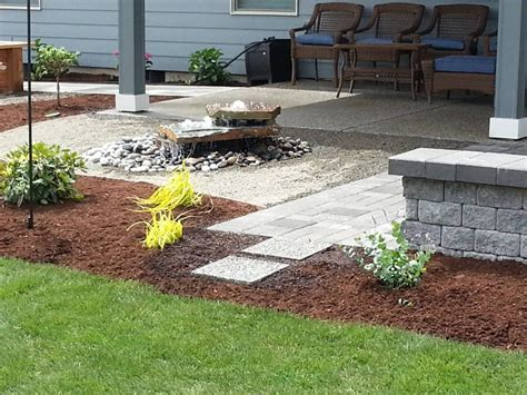 Backyard Patio Landscaping by Landscaping Portfolio Highlights Woody S Custom Landscaping