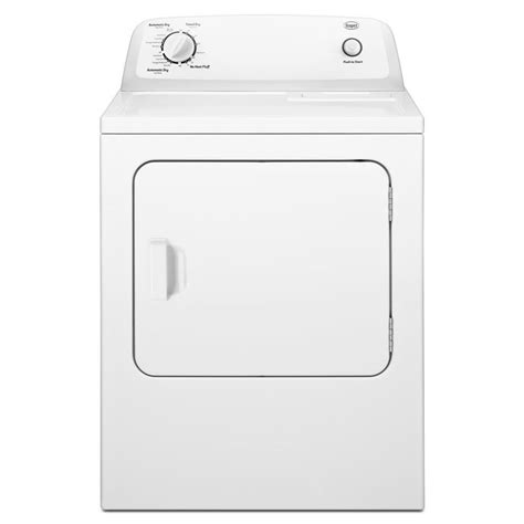 white whirlpool microwave shop roper 6 5 cu ft electric dryer white at lowes com