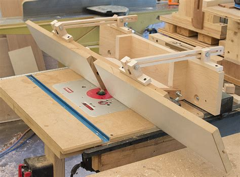 tilting router table fence finewoodworking