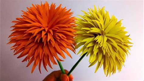 dandelion paper flowers easy flower making